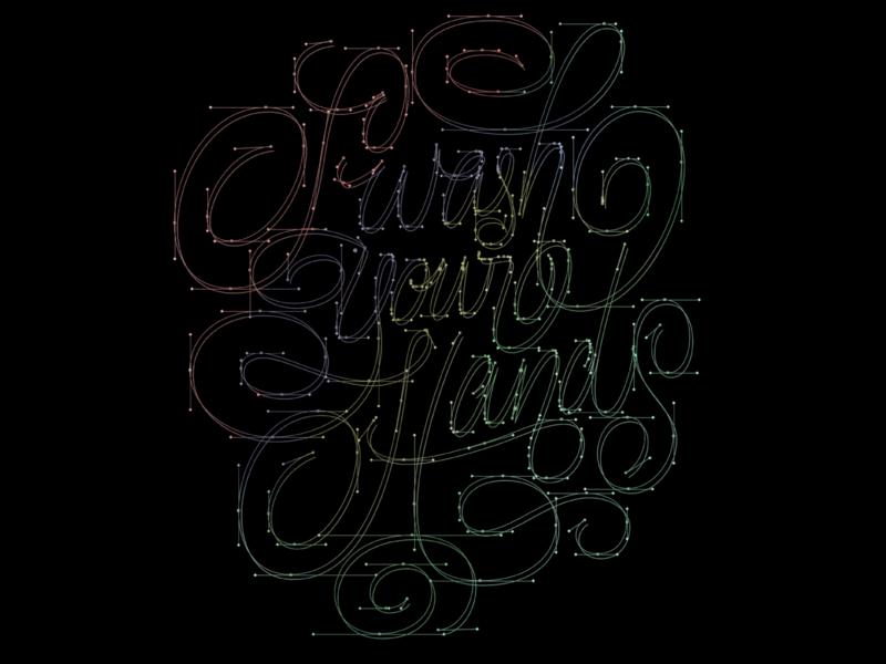Swash Your Hands points vector handlettering hands script lettering swash