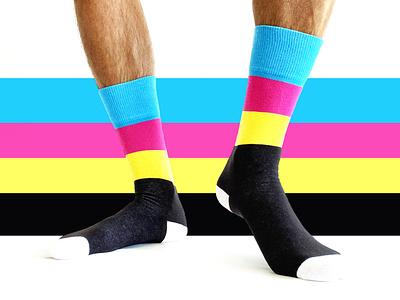 CMYKnit trust the process process color merch fashion design cmyknit knit print socks cmyk