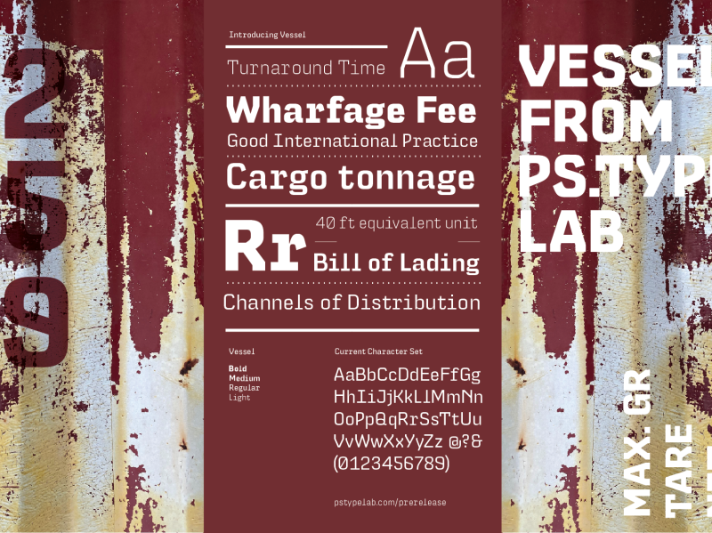 Vessel PreRelease pstype fonts graphic design prerelease typography typeface vessel font type