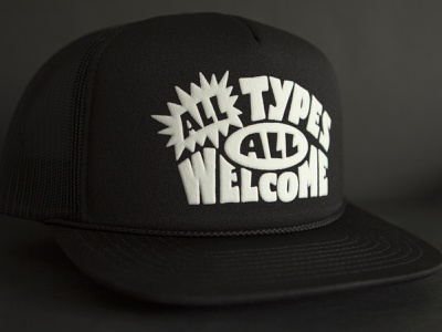 All Types (All) Welcome custom merch all types all types welcome hats lettering letters cap hat trucker