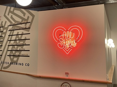 Love All Styles Neon neon sign brewery beer love all styles neon