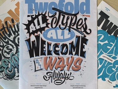 Twofold Vol 5 specimen letterforms print paper design typography pencil pushers type lettering