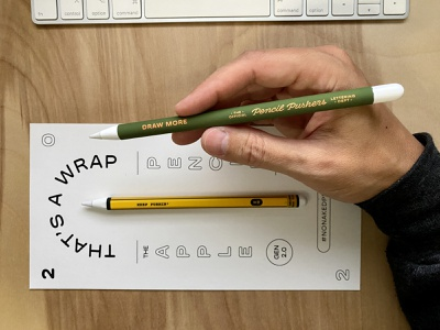 Pencil Wraps 2.0 pencil pushers custom product design no naked pencils pencil wraps wrap apple pencil