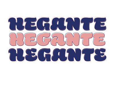 Hegante vector bold brush typography type font fonts lettering hegante typeface