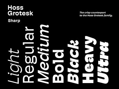 Hoss Grotesk - Sharp release foundry font fonts letterforms typeface grotesk hoss
