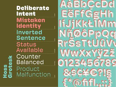 Hoss Grotesk Round grotesk hoss round foundry font typeface typography type
