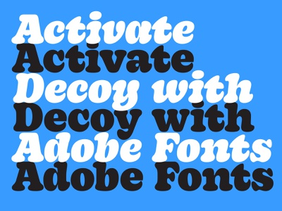 Decoy is on Adobe Fonts! custom design typography new release typeface letters adobe adobefonts type font decoy