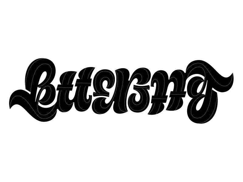 Lettering Ambigram fat script script custom ambigram lettering