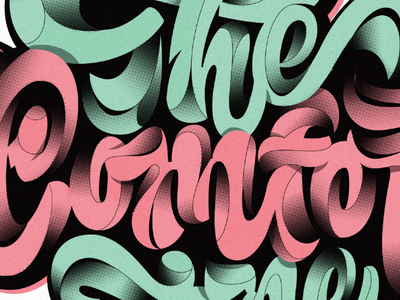 The Comfort Zone live lettering comfort zone design hand lettering illustrator lettering adobe