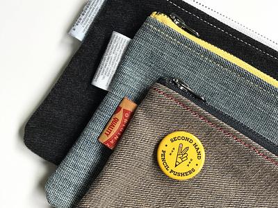 Second Hand: Pencil Pouch reuse upcycle pouch pencil case pencil levis jeans hand me down