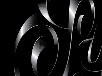 Swoop pencil pushers gradient bezier illustrator lettering script s