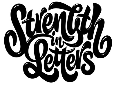 Strength in Letters collab goodtype strength letters ink print shirt pencil pushers design lettering