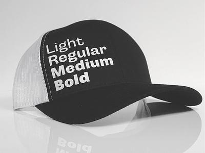 Light Regular Medium Bold - Now in Black caps headwear hat font weights