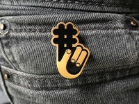 Hashtag Fingers Pin