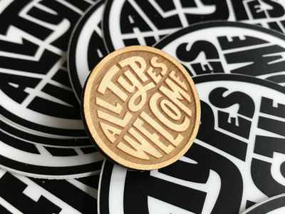 All Types Welcome Pin laser cut wood lettering goods product pin game welcome pin all types