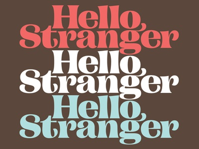Hello Stranger retail font wip letters fonts type pstype campaign serif hello