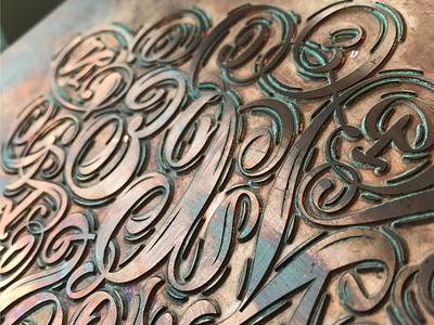 Nice Plate plate copper ink print letterpress nice