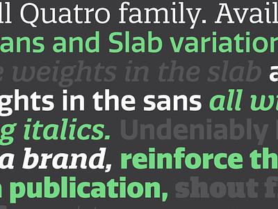 Quatro Family typeface design pstypelab pstype family sans slab quatro font typeface