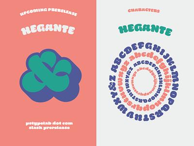 Hegante custom illustration vector typography brush prerelease fonts type