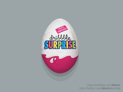 a dribbble surprise egg.