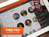 PSD (Free download) Grooveshark Design