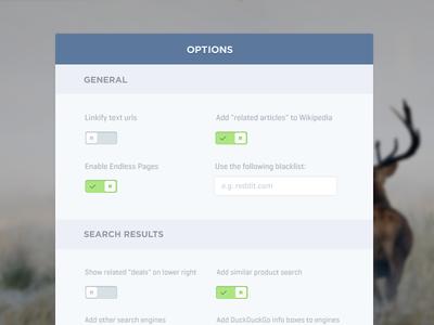 Simple Option Panel