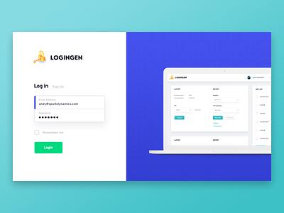 Simple Login Page for Client login form login page macbook mockup macbook login design logo
