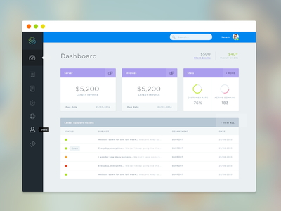 Dashboard design (WIP) dashboard menu sidebar ui ios7 flat flat ui