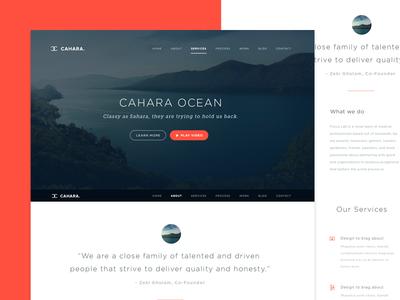 Cahara Wordpress Theme wordpress theme design ui flat flat ui ios7 sleek whitespace