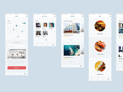 iOS App // Some screens community chat desktop ios7 design ui