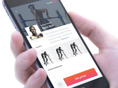 iOS Profile Screen (Sports App) ui ux user experience simplicity participant product multi-platform mobile interface iphone mockup prototype interactive clean design