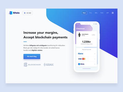 Bitala (Landinge page / Hero) clean design interactive listings iphone mockup mobile interface discover landingpage profile simplicity user experience ux ui