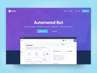 Landingpage Automated Bot (WIP) bot coins stats graph blue currency crypto bitcoin wallet bitala