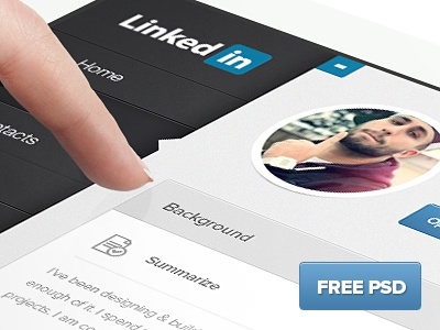 (FREE PSD) LinkedIn iPad re-design free psd free psd download ipad web design design ui ux linkedin redesign redesign linkedin