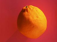 Orange on Pink
