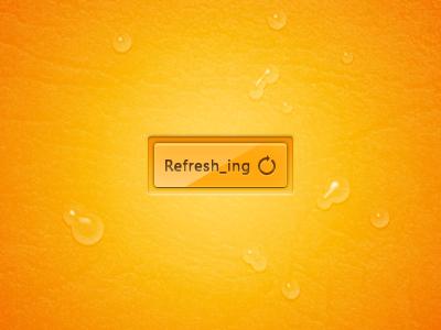 Refresh_ing orange button waterdrop ui