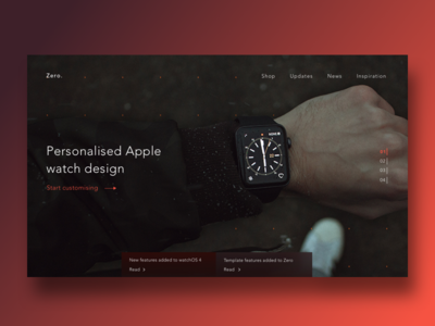 Daily UI challenge - Landing page about the fold