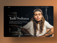 Music discovery site UI concept