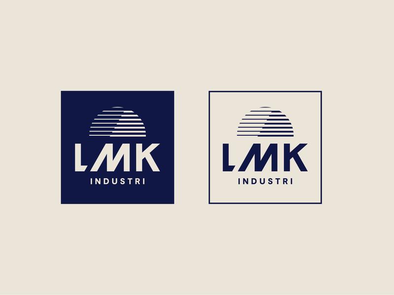 LMK Industri - Logo wordmark brand identity graphic design logotype type logo branding illustrator lettering typography