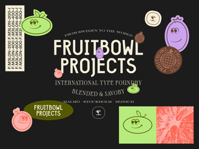 Fruitbowl Projects - Early Sketch typedesign branding design branding type foundry fruit logo fruit stickers wordmark brand identity graphic design logotype logo type illustrator lettering illustration typography