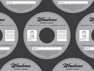 Wondrous Keg Collar - The Update brand and identity brand design beer branding keg keg collar illustration beer wordmark brand identity graphic design logotype logo branding typography