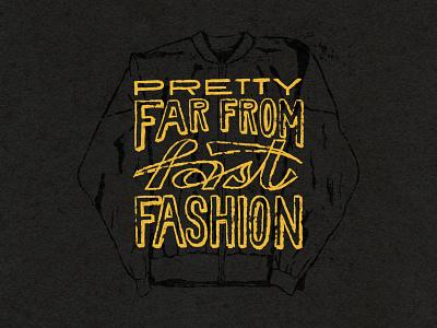 Far From Fast Fashion vintage boutique vintage store vintage illustration branding brand assets graphic design brand identity handlettering type illustrator lettering branding illustration typography