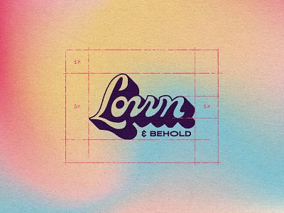 Lown & Behold logo grid visual identity brnading brand design wordmark brand identity logotype graphic design logo handlettering type illustrator branding typography