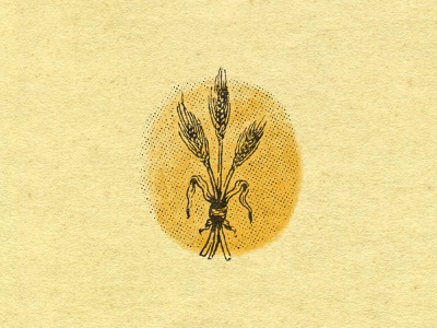 A Bouquet of Barley texture fiend texture obsession paper texture texture watercolor illustration art barley illustration beer brewery halftone pattern halftones beer branding barley badge mark brand identity graphic design illustrator branding illustration
