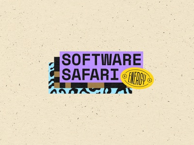 Software Safari mini identity qrcode bitmap space mono leopard print badge design software safari software brand design badge brand identity logotype graphic design logo type lettering branding typography
