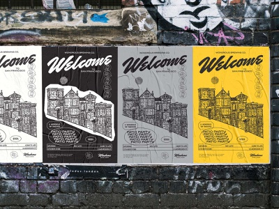 Welcome to San Francisco wondrous brewing co beer poster beer event san francisco patio party tap takeover beer brand identity beer brand poster brand identity logo design graphic design lettering type illustrator branding illustration typography