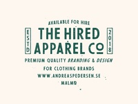 The Hired Apparel Co - Andy Available For Hire