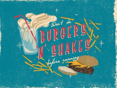 Burgers & Shakes photoshop milkshake burgers graphic design cintiq goodtype type illustrator handlettering typography lettering illustration