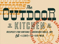 The Outdoor Kitchen - Branding elements and typographic lockups