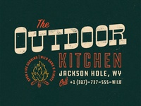The Outdoor Kitchen - Typographic lockup & logotype